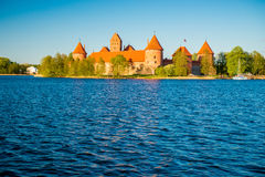 Castle near lake Royalty Free Stock Images