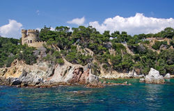 Castle near lloret de Mar. Stock Photography
