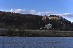 The castle near Pshezhozalah. The castle is located on a forest hill in the nature park of Biliana Stock Image