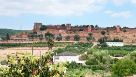 Castle near town Silves, Portugal Royalty Free Stock Photography