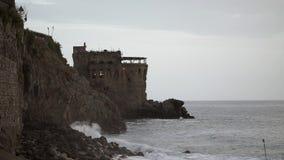 Castle near water stock video