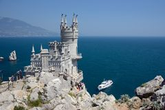 Free Castle Near Yalta, Swallow Nest Royalty Free Stock Photography - 30904587