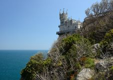 Castle near Yalta, Swallow nest Royalty Free Stock Photo