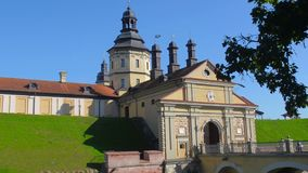 A castle in Nesvezhe. A family estate of the Radzivil stock video footage