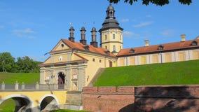 A castle in Nesvezhe. A family estate of the Radzivil stock footage