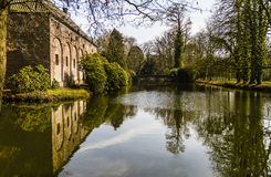 Castle in the Netherlands. Castle near the place Arcen in the nature Maasduinen Stock Image