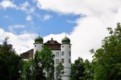 Castle in neuhausen an der donau in germany. Old castle in neuhausen at danube in south germany close to tuttlingen in Europe Stock Photos