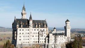 Castle Neuschwanstein, από Pollatbridge απόθεμα βίντεο