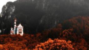 Castle Neuschwanstein στη Βαυαρία, Γερμανία Στοκ εικόνα με δικαίωμα ελεύθερης χρήσης