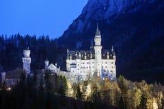 Castle Neuschwanstein στις βαυαρικές Άλπεις Στοκ Εικόνες