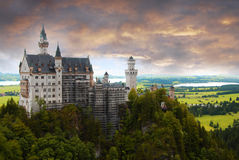 Castle Neuschwanstein Royalty Free Stock Photography