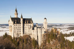 Castle Neuschwanstein. In winter near Munich, Germany royalty free stock photos