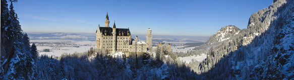 Castle Neuschwanstein. Landmark castle Neuschwanstein in Bavaria, Germany Royalty Free Stock Photo
