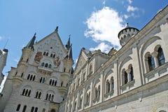 Castle Neuschwanstein. The facade of Neuschwanstein Castle in Germany Stock Photo