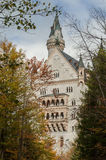 The castle of Neuschwanstein in Bavaria, Germany. Beautiful summer view of the Neuschwanstein castle Royalty Free Stock Photography