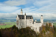 The castle of Neuschwanstein in Bavaria, Germany. Beautiful summer view of the Neuschwanstein castle Stock Images
