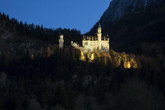 Castle Neuschwanstein in the Bavarian Alps Stock Photos