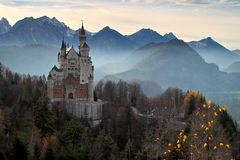 Castle, Neuschwanstein Castle Royalty Free Stock Image