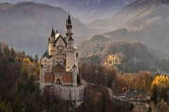 Castle, Neuschwanstein Castle Royalty Free Stock Photo