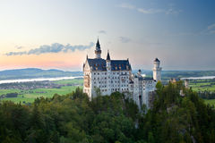Castle neuschwanstein in germany Royalty Free Stock Photo