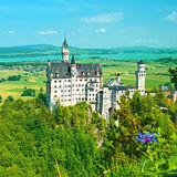 The castle of Neuschwanstein in Germany Stock Image
