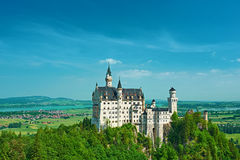 The castle of Neuschwanstein in Germany Stock Photos