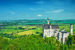 The castle of Neuschwanstein in Germany Stock Photography