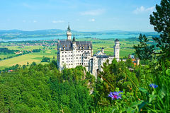 The castle of Neuschwanstein in Germany Stock Images
