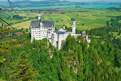 The castle of Neuschwanstein in Germany Royalty Free Stock Photography