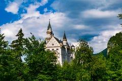 Castle Neuschwanstein in Hohenschwangau royalty free stock image