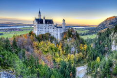 Castle of Neuschwanstein. Near Munich in Germany on an autumn day Stock Image