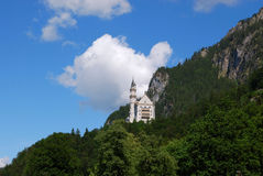 Castle Neuschwanstein - panoramic view, Bavaria Stock Image