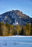 Castle Neuschwanstein winter scenery Royalty Free Stock Photos