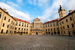 Castle in Niasvizh. central square. The central area of the castle in Nesvizh Royalty Free Stock Photography