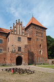 Castle in Nidzica Poland. Historic medieval castle in Nidzica Poland Royalty Free Stock Photos