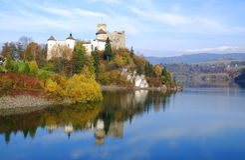 Castle in Niedzica. Poland. Medieval Dunajec castle in Niedzica by lake Czorsztyn, Poland royalty free stock image
