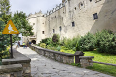 Castle in Niedzica, Poland Stock Photography