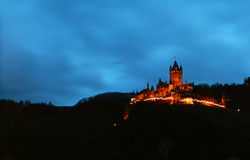 Castle at night Stock Photography