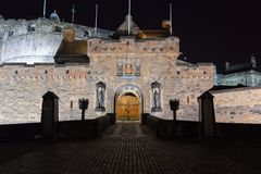 Castle at night. Edinburgh. Scotland. UK. Stock Photo