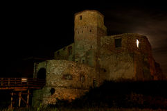 Castle at night. Castle at night with a full moon Stock Image