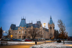 Castle at night, the Palace of Culture in Iasi Royalty Free Stock Photo