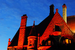 Castle night scene Royalty Free Stock Images