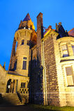 Castle night scene in victoria Stock Image