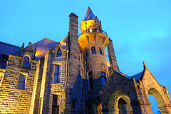 Castle night scene in victoria Stock Photography