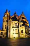 Castle night scene in victoria Royalty Free Stock Image