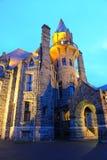 Castle night scene in victoria bc Stock Photos