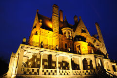 Castle night scene in victoria bc Stock Photography