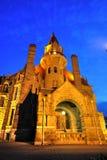 Castle night scene in victoria bc Royalty Free Stock Photo