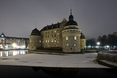 Castle at night time Stock Image