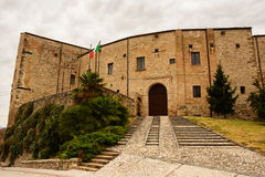 Castle of Nocciano in the province of Chieti Stock Photos